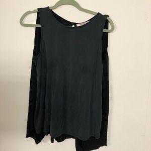 Forever21 sleeveless formal shirt